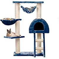 Happypet tiragraffi CAT018 Blu, medio grande, altezza 100 cm