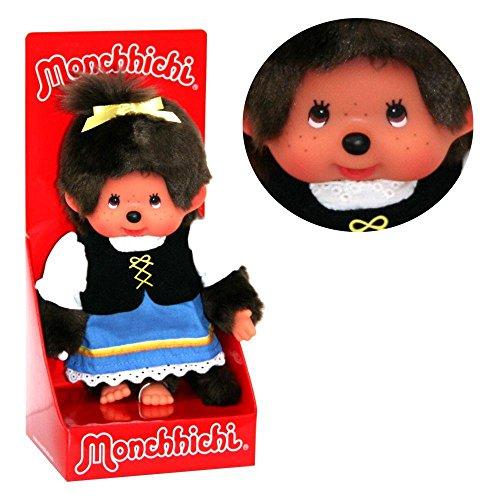 20 cm   Monchhichi Puppe   Bayrisches Mädchen im Trachtenkostüm (Monchhichi Kostüm)