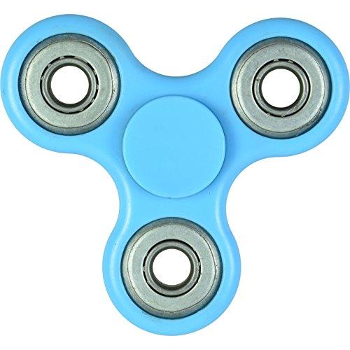 Tri Fidget Spinner - Il giocattolo della barretta in azzurro - Anti Stress Finger Toy