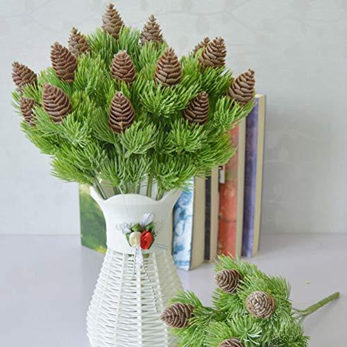 Vosarea Weihnachten hält künstliche künstliche Pflanzen der Simulationsblume für Weihnachtsheimbürodekor auf