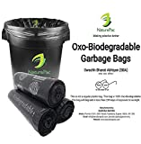 NaturePac Garbage Bags Biodegradable For Kitchen,Office,Large Size ((60cmX81cm)/(24 Inchx32 Inch),45 Bag). (Black)