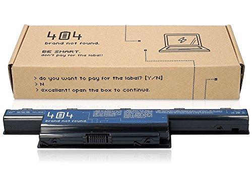 Wessper 404Brand Laptop Akku für Acer TravelMate 5760G-2313G50MISK (10.8V, 4400 mAh, Schwarz, 6 Zellen)