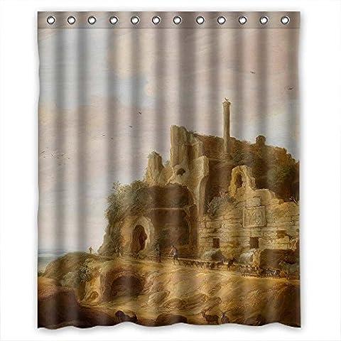 sunsmiles Dusche Vorhänge Art Badezimmer Fall Breite x Höhe/152,4x 182,9cm/W H 150von 180cm Custom Design Schöne Landschaft Landschaft Kunst Gemälde