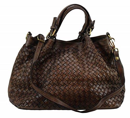 BZNA Bag Rene braun Italy Designer Damen Handtasche Schultertasche Tasche Schafsleder Shopper Neu