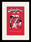 1art1 102050 Rolling Stones - It's Only Rock N Roll Gerahmtes Poster Für Fans Und Sammler 40 x 30 cm