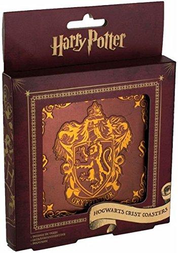 HARRY POTTER Hogwarts Wappen Untersetzer aus Weißblech, Mehrfarbig, 1 x 9 x 9 cm