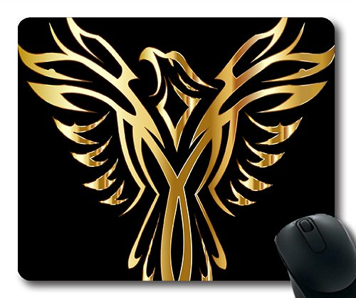 (Precision lock edge mouse pad) Phoenix Bird Legendary Mythical Fictional Line Art Gaming mouse pad mouse mat for mac or computer (Phoenix Bird)