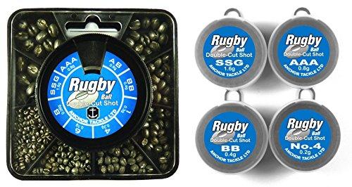 Anchor Tackle Rugby Ball Bleischrot, Doppelschlitz, in Spender mit 8Fächern, Blau