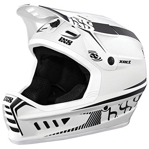 iXS Full Face Helm XACT Downhill Mountain Bike DH MTB BMX Enduro FR Fahrrad, 470-510-6520, Farbe White Black - Weiß Schwarz, Größe M/L