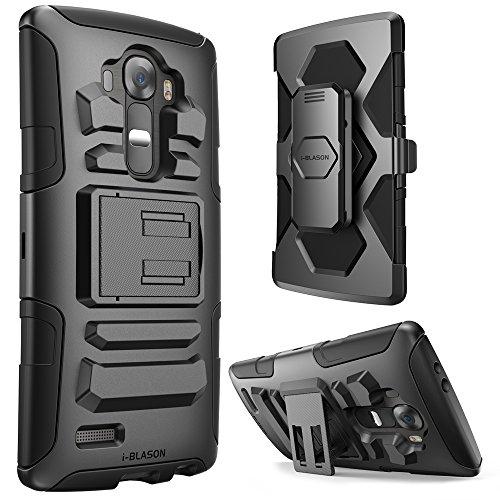 LG G4 Hülle, (2015 Ausgabe), i-Blason Prime Serie Gehäuse / Schutzhülle / Tasche. 2-Schicht Holster Hülle mit Standhälter, schwenkbaren Gürtel mit Locking-Mechanismus