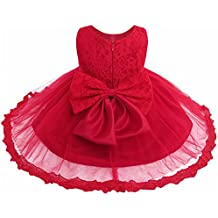 a7b82b1d7 Freebily Vestido de Princesa Elegante para Niñas Bebés Vestido Infantil de  Bautizo Fiesta Boda
