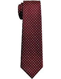 Vintage Three-color tejido de lunares corbata de niño–8–10años–varios colores