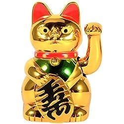 Gato agitando - Gran Mano Que agita el Oro Pata hacia Arriba Prosperidad de Riqueza Gato Acogedor, Buena Suerte Decoración de Feng Shui