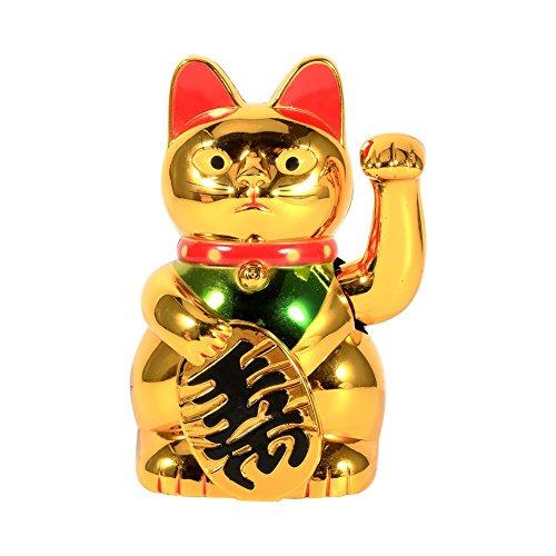 FTVOGUE Waving Cat - Large Gold Waving Hand Zw Up Ricchezza Prosperità Accogliente Gatto, Buona Fortuna Decorazione Feng Shui