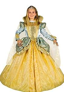 FIORI PAOLO 26296-Disfraz de carnaval. Princesa dorada. Atelier 5-7 anni Oro/Azzurro