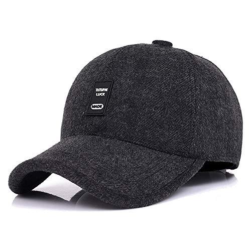 5d835a56429c WETOO Men Winter Warm Baseball Caps Wool Tweed Peaked Hats with Ear Flaps