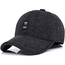 d609418a67883e WETOO Baseball Cap Herren Winter Warme Wolle Fleece Mit Ohrenklappen  Schirmmütze