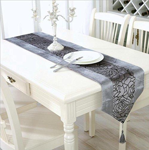 Miaoge Floccaggio dorato rose grandi table flag stoffa hotel pianoforte table bandiera 33*210cm