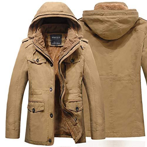 Wekold giacca di cotone parka inverno casual uomo, giacca a vento da uomo pesante con cappuccio cappotto invernale