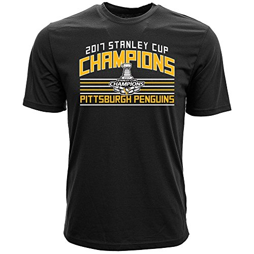 Levelwear Pittsburgh Penguins 2017 Stanley Cup Champs NHL T-Shirt Schwarz, XL (Champs-xl T-shirt)