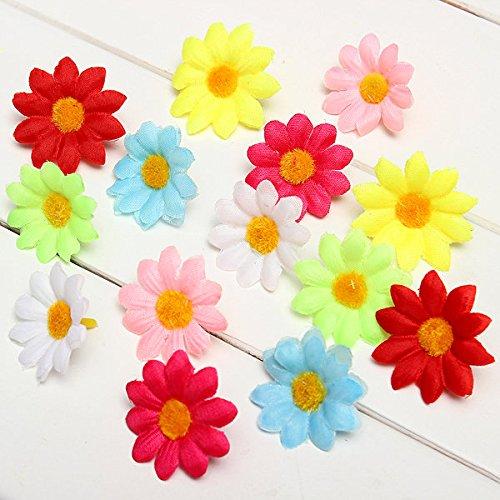 Bazaar Künstliche Seide 50pcs Margarita Dekoration der Hochzeit Blumen Köpfe Haus