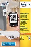 Avery L7121-20 Etiketten für QR-Codes Papier 45x45mm 400Stück Weiß