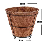 #7: MyFashionStyle Eco Friendly Square Coconut Coir Pot with metal stand - 10 Inch Dia - Pack Of 1