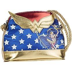 Dc Super Hero Girls Wonder Women Bolso 20 cm, Azul