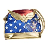 Karactermania Dc Super Hero Girls Wonder Women Bolso Bandolera, 20 cm, Azul