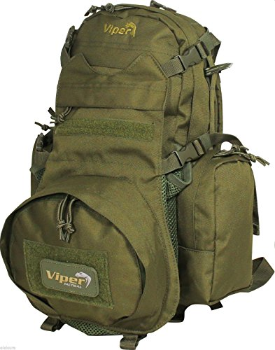 Viper Airsoft Mini Modular Back Pack vari colori Casco Borsa Zaino Trekking, Green Green