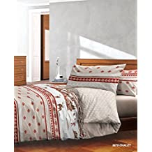 Housse de couette montagne for Linge de lit style chalet montagne