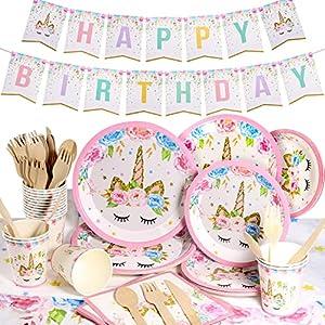 Yosemy Vajilla de Unicornio Cumpleaños