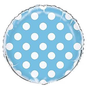 Partido Ênico de 18 pulgadas Lunares Globo (Foil Azul)