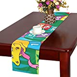 QIAOLII Snake Numbers Theme Image 2 Eps 10 Tischläufer, Kitchen Dining Table Runner 16 x 72 Zoll für Dinnerpartys, Events, Dekor