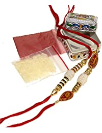 Lailiolive Set Of 2 Multi Color Rakhi In Traditional Box For Men/Boys