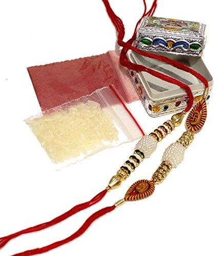 LailioLive Set of 2 Designer Rakhi for Brother in Traditional Box | Rakshabandhan Special