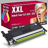 ms-point® 1x Rebuilt Toner für Samsung CLP-320 CLP-320N CLP-325 CLP-325N CLP-325W CLX-3180 CLX-3185 CLX-3185FN CLX-3185FW CLX-3185 CLX-3185W ersetzt CLT-Y4072S Yellow Gelb