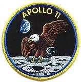 NASA Apollo 11gelb Bordüre bestickt abzeichen Patch Aufnäher oder zum Aufbügeln 10cm