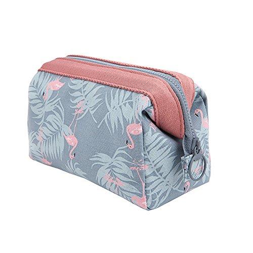 Surenhap borsa per cosmetici portatile di archiviazione pacchetto sacchetto di immagazzinaggio borsa a mano borsa per donne e ragazze - flamingo