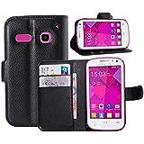 Guran® Funda de Cuero Para Alcatel OneTouch Pop C3 Smartphone Tirón de la Cubierta de la Función de Ranura Tarjetas y Efectivo Caso