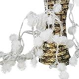 Wokee Fairy String Licht Löwenzahn Shaped Vorhang Lampe Party Hochzeit Outdoor-Dekor Wählbar Schlafzimmer Dekor Stimmung Licht für Schlafzimmer Cafe Bar (Mehrfarbig)