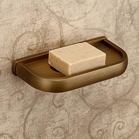 Hiendure®Ottone antico a parete sapone piatti montati supporto del