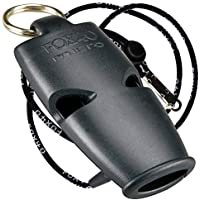 Fox 40 Micro Whistle Lanyard For Referee-Safety Alert-Rescue-Dog-Outdoor Black