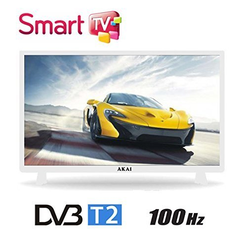 Akai AKTV3222T 32' HD Smart TV Wi-Fi White DVB T/2 - LED TVs (HD, LED, 16:9, 1366 x 768, 100000:1, 1366 x 768 pixels)