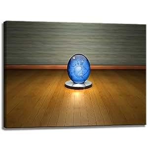 Blue globe avec photo en verre pied sur le format de la toile: 80 cm x 60 cm . Impression d'art de haute qualité comme une fresque. Moins cher qu'une peinture à l'huile! ATTENTION! Aucune affiche