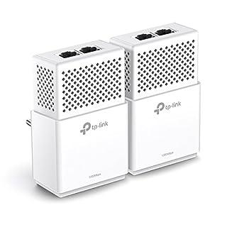 TP-Link TL-PA7020-KIT V2.0 Netzwerkadapter Set (bis zu 1000 Mbit/s über Powerline, 4 Gigabit Port, kompatibel zu allen gängigen Powerline Adaptern, ideal für HDTV, Plug und Play, 2er Set) weiß