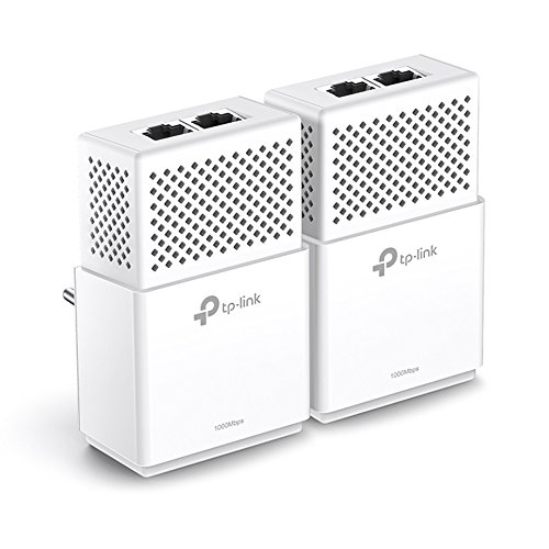 TP-Link TL-PA7020-KIT V2.0 Netzwerkadapter Set (bis zu 1000 Mbit/s über Powerline, 4 Gigabit Port, kompatibel zu allen gängigen Powerline Adaptern, ideal für HDTV, Plug und Play, 2er Set) weiß Hdtv-starter-kit