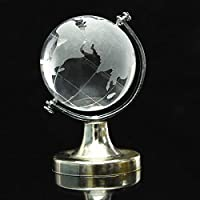 Big Bazaar Bazaar World Globe Crystal Glass Clear Paperweight Wedding Favor Home Desk Decor Furnishings