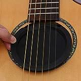 CHUER Couverture Bouchon du Trou Son de Guitare Couvercle de Trou Son Réglable Accessoires de Ouïe en Caoutchouc pour Guitare Acoustique électrique Feedback Contrôle Prévention - 86mm Noir