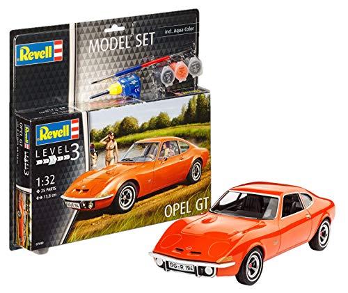 Revell Modellbausatz Auto 1:32 - Opel GT im Maßstab 1:32, Level 3, originalgetreue Nachbildung mit vielen Details, , Model Set mit Basiszubehör, 67680